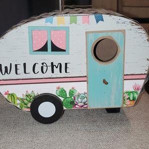 NWT RV welcome Camper bird house feeder NEW